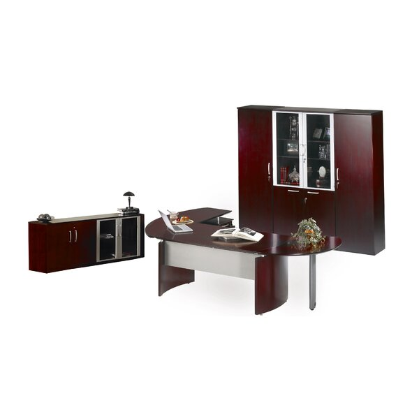 Napoli 4-Piece Series Standard Desk Office Suite by Mayline Group
