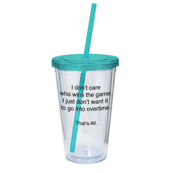 TA-ATUM Wins The Game 16 oz. Plastic Travel Tumbler by That's All.