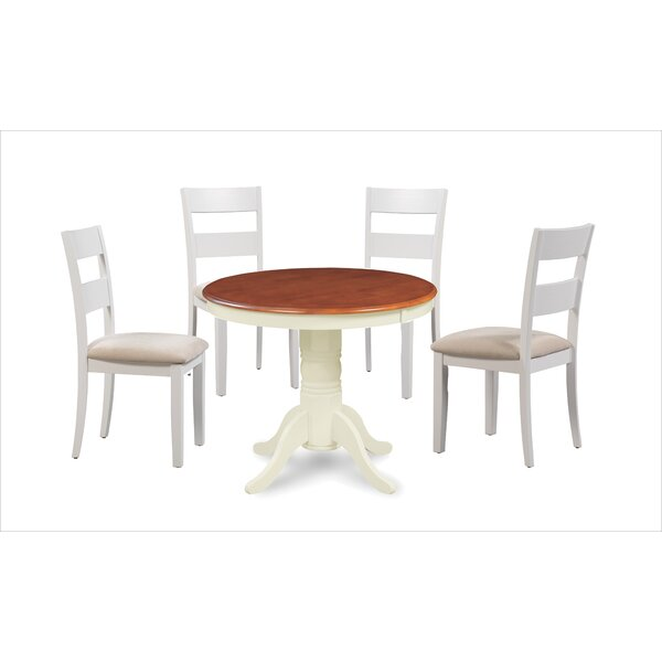 Avula Fulantville Solid Wood 5 Piece Dining Set by August Grove