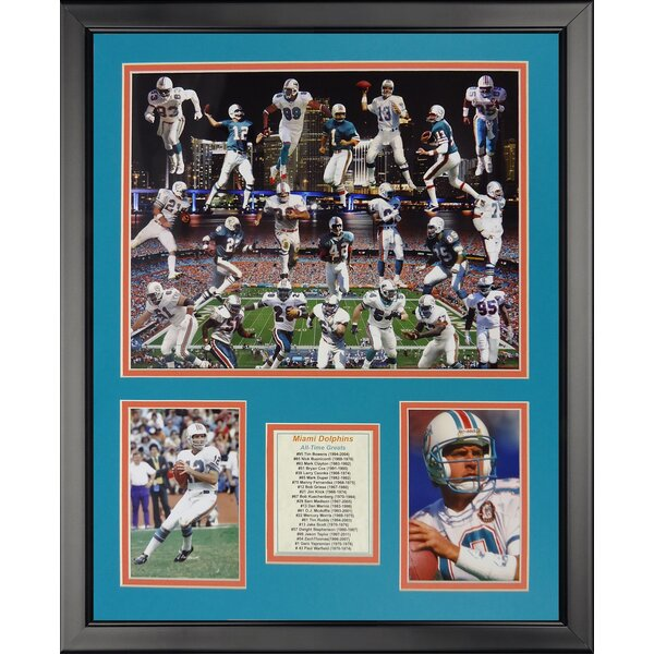 NFL Miami Dolphins - Dolphin Greats Framed Memorabili by Legends Never Die