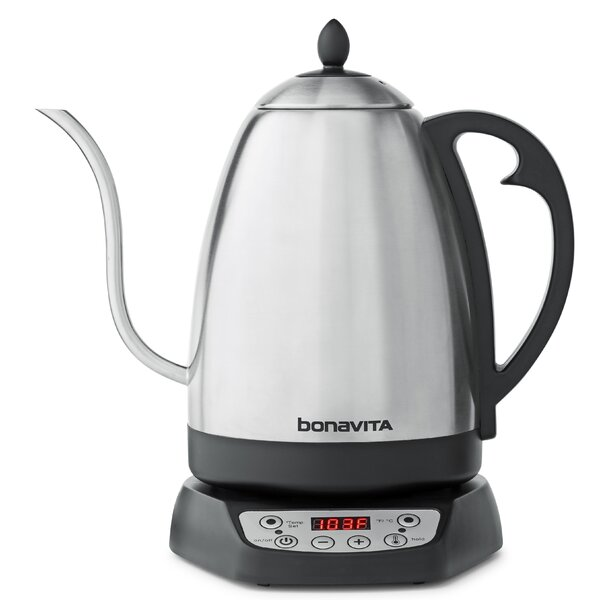 1.7L Stainless Steel Variable Temperature Electric Gooseneck Kettle by Bonavita Coffee