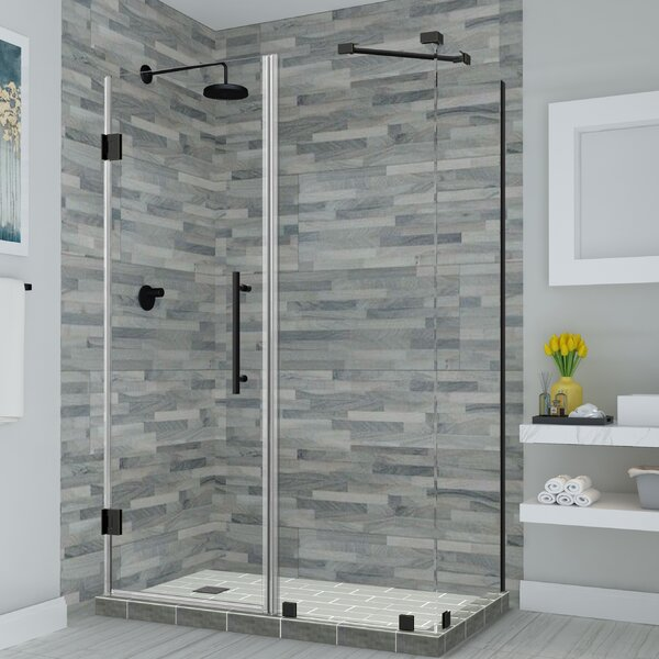 Bromley Hinged Semi-Frameless Rectangle Shower Enclosure by Aston