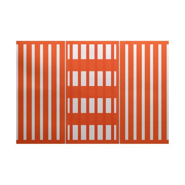 Bartow Orange Indoor/Outdoor Area Rug by Breakwater Bay
