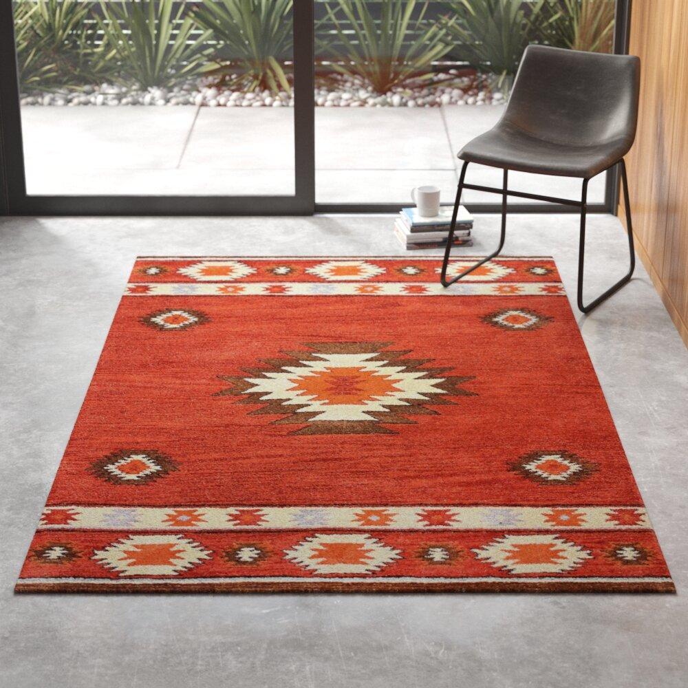 Dewey Southwestern Handmade Tufted Wool Area Rug Reviews Allmodern