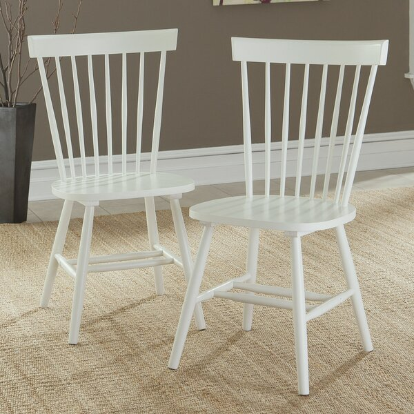 #2 Lane Solid Wood Dining Chair (Set Of 2) By Rosecliff Heights Savings