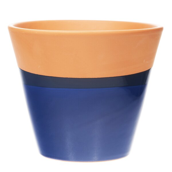 Eleni Round Ceramic Pot Planter by Wrought Studio