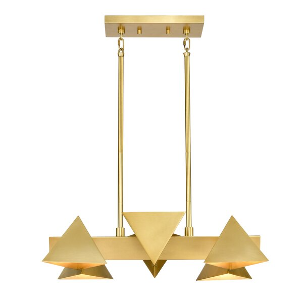 Moriarty 6 - Light Unique Geometric Chandelier by Ivy Bronx Ivy Bronx