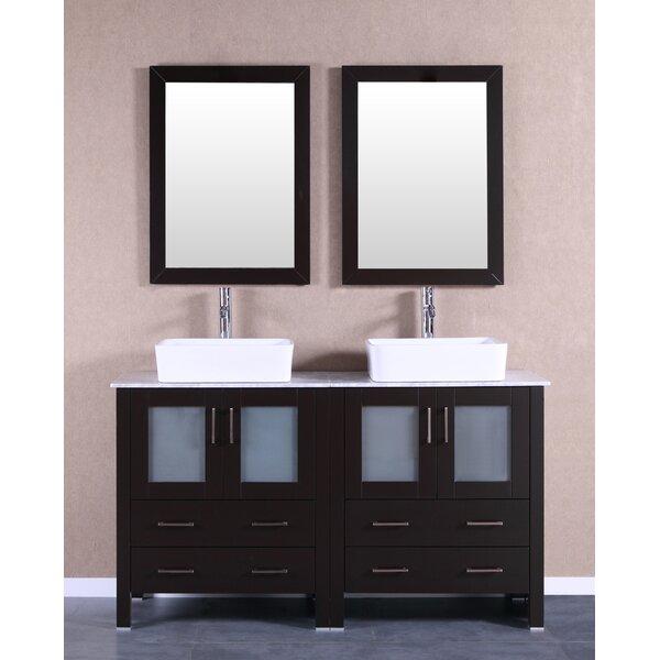 Arnette 59 Double Bathroom Vanity Set with Mirror by Bosconi