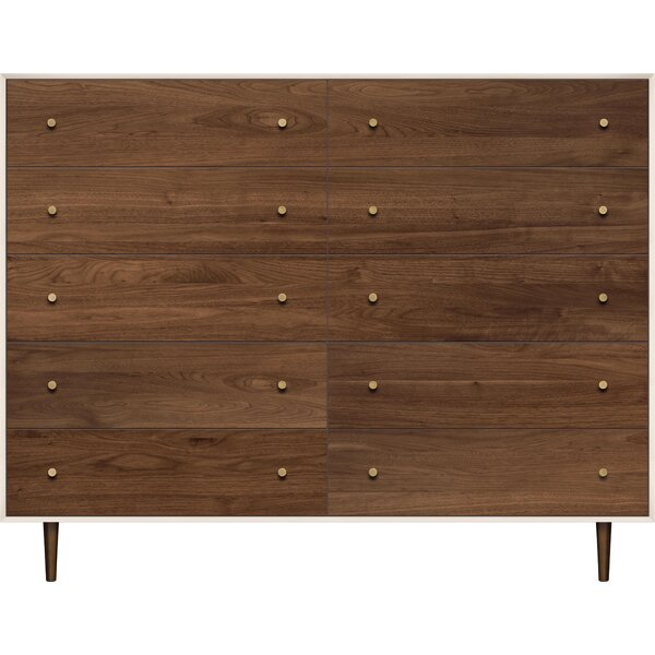 Mimo 10 Drawer Double Dresser by Copeland Furniture