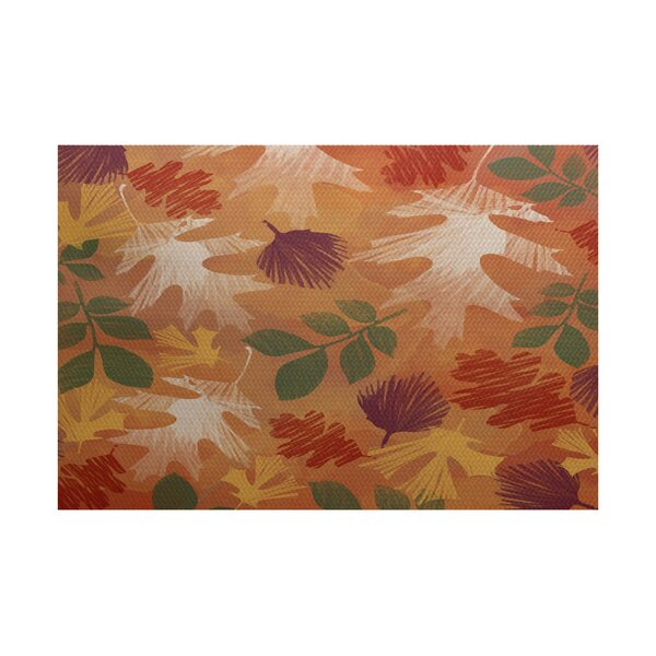 Brookfield Rust Indoor/Outdoor Area Rug by Loon Peak