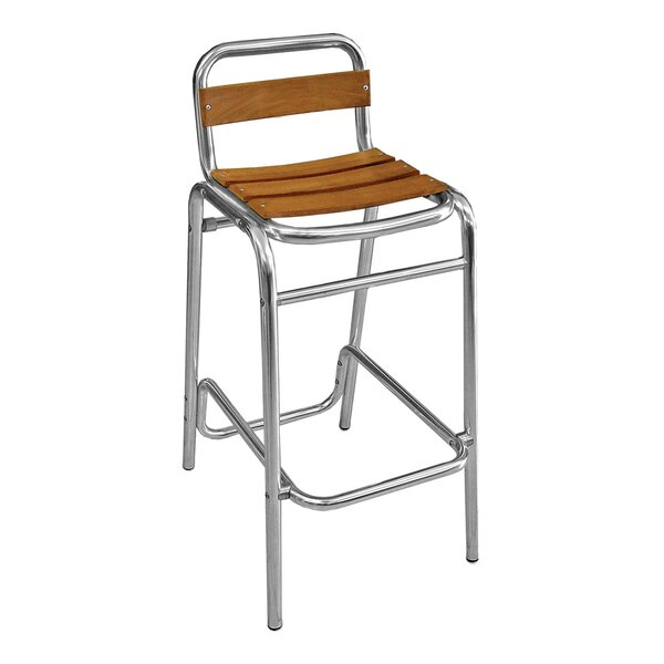 30 Teak Patio Bar Stool by Florida Seating