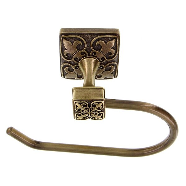 Fleur de Lis Wall Mounted French Toilet Paper Holder by Vicenza Designs
