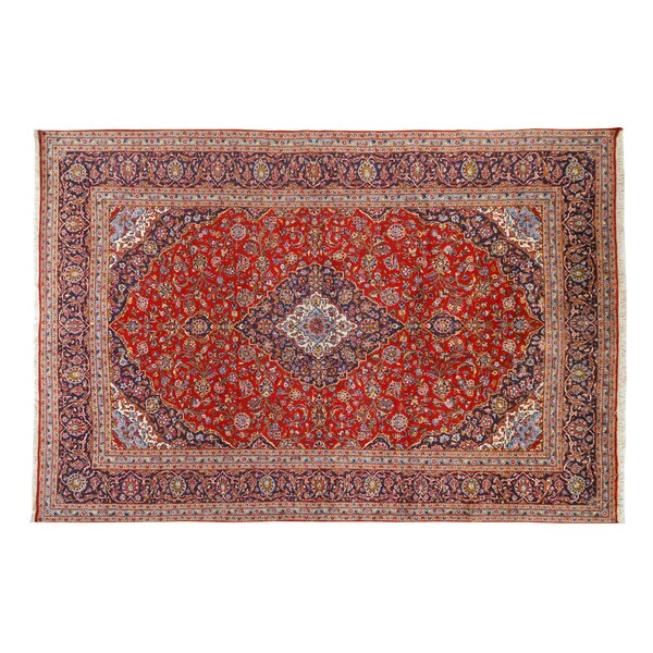 Hand-Knotted Red Area Rug by La Viola Décor