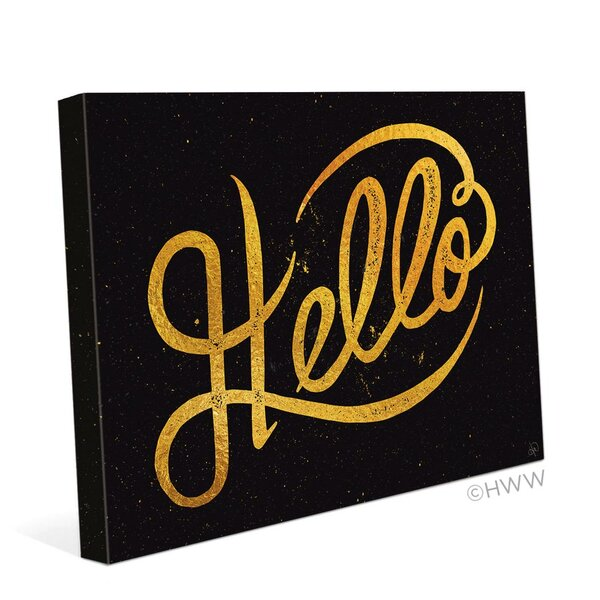 Hello Textual Art on Wrapped Canvas by Click Wall Art