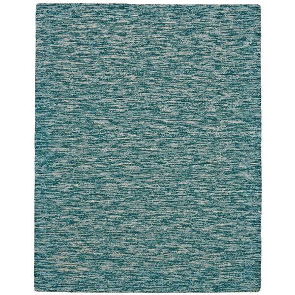 Isabela Hand-Tufted Teal Area Rug by Breakwater Bay