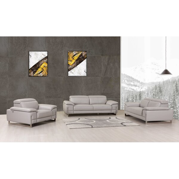 Stupendous Reviews Allon 3 Piece Leather Living Room Set By Orren Ellis Home Interior And Landscaping Mentranervesignezvosmurscom