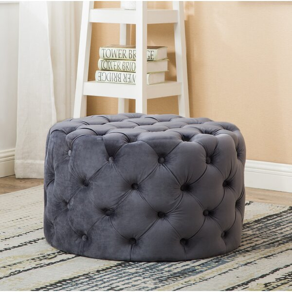 Bright Round Tufted Cocktail Ottoman by House of Hampton