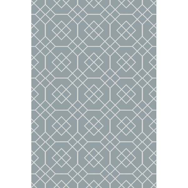 Freudenburg Teal Geometric Rug by Darby Home Co