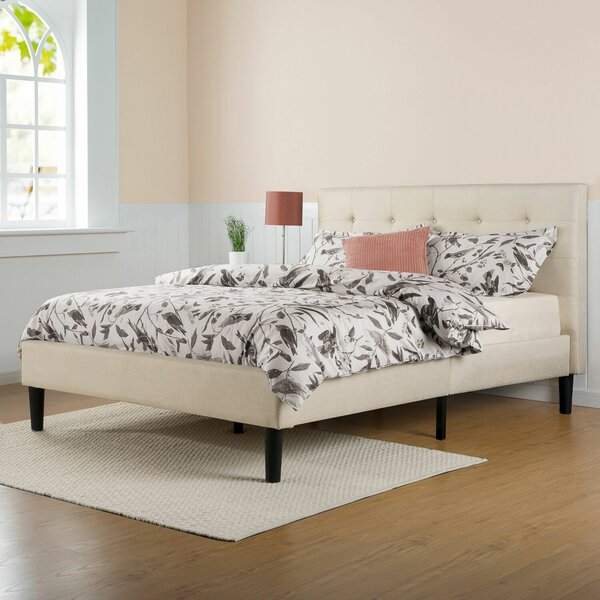 #1 Leonard Upholstered Platform Bed By Zipcode Design Today Only Sale