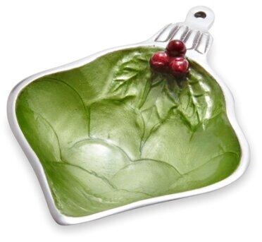 Holly Sprig 7 Ornament Decorative Bowl by Julia Knight Inc