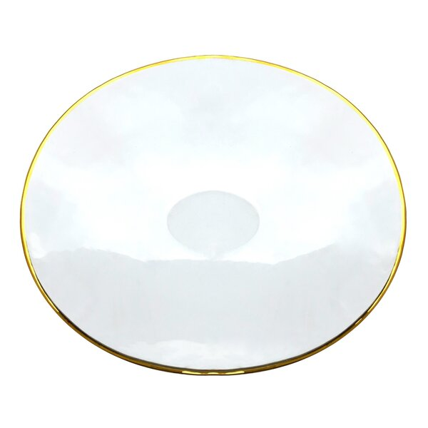 Gilt Large Oval Platter by Red Pomegranate