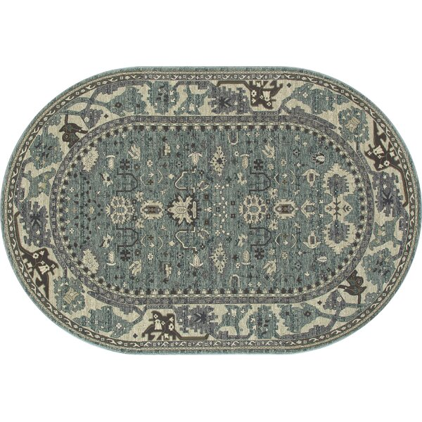Castellano Aqua Area Rug by Charlton Home