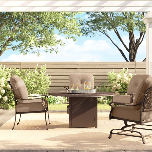 Lebanon 5 Piece Multiple Chairs Seating Group with Cushions by Three Posts