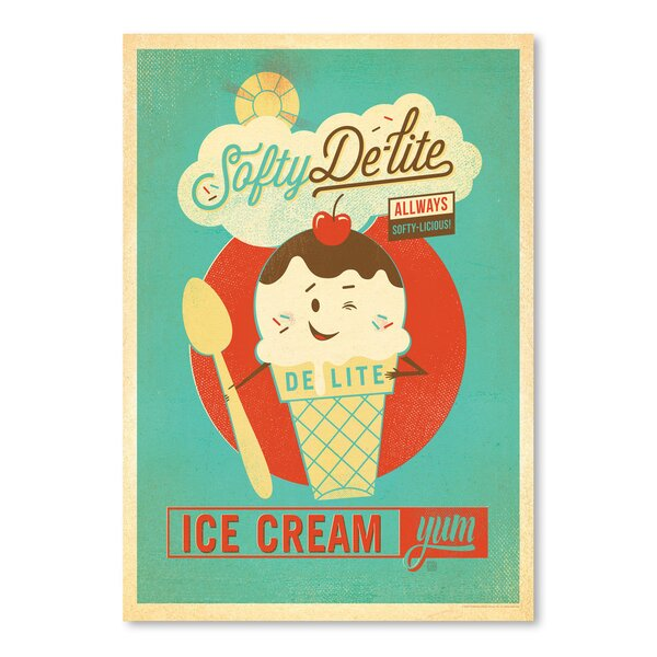 Softy Delite Vintage Advertisement by East Urban Home