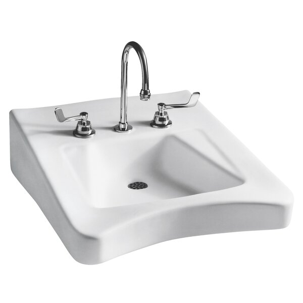 Wheelchair Vitreous China 20 Wall Mount Bathroom Sink with Overflow by Mansfield Plumbing Products