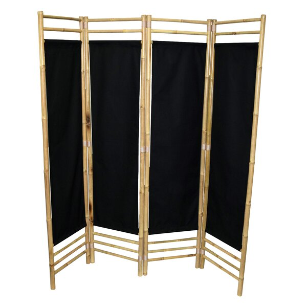 Rodgers 4 Panel Room Divider by Bay Isle Home