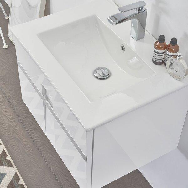 Antonetta Modern 36 Wall-Mounted Single Bathroom Vanity Set