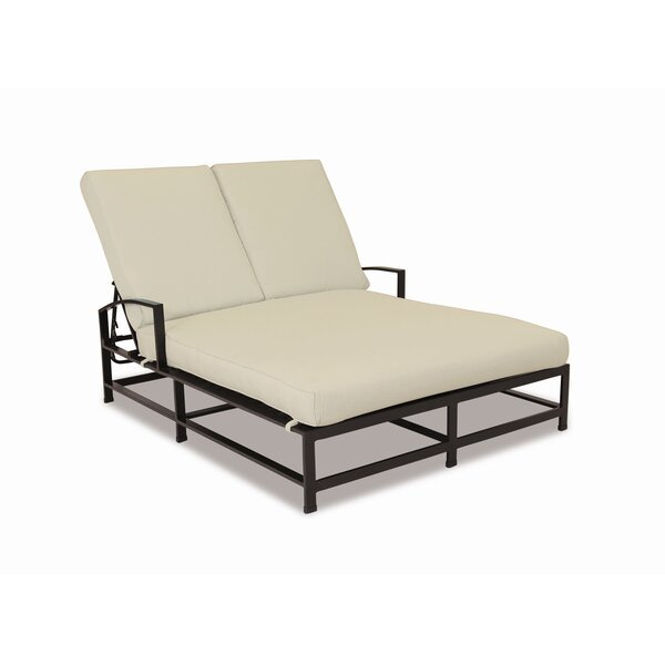 La Jolla Double Chaise Lounge with Cushion by Sunset West Sunset West