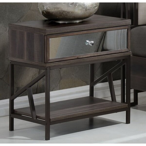 Andromeda 1 Drawer Nightstand by Gracie Oaks
