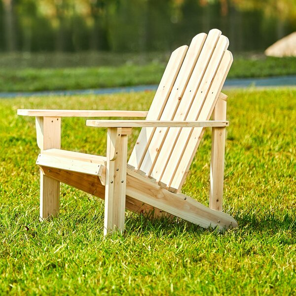 Janes Wood Adirondack Chair by Breakwater Bay