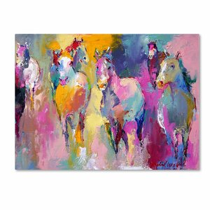 Wild by Richard Wallich Painting Print on Wrapped Canvas by Trademark Fine Art