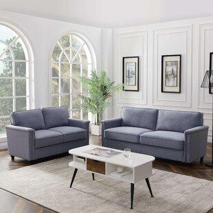 Marisela 2 Piece Standard Living Room Set (Set of 2) by Alcott Hill®
