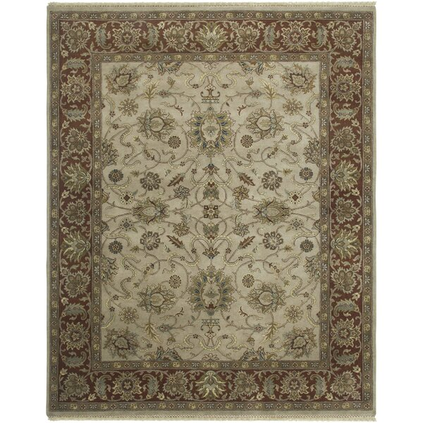 Victoire Beige/Red Area Rug by Darby Home Co