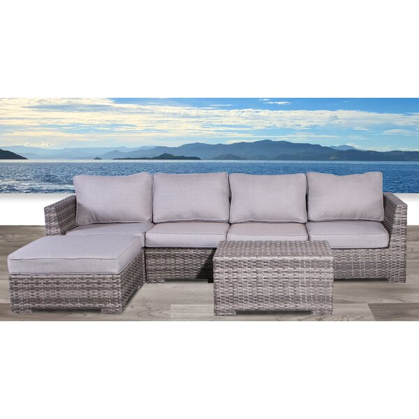 Letona 6 Piece Sectional Seating Group with Cushions by Sol 72 Outdoor Sol 72 Outdoor