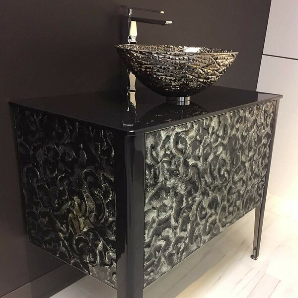 Calloway Glass 35.5 Bathroom Vanity by Orren Ellis