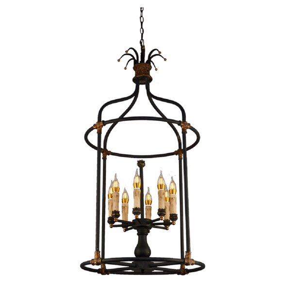 Galilea 8 - Light Lantern Geometric Chandelier By Bay Isle Home