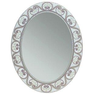Charmant Earthtone Mosaic Accent Bathroom/Vanity Wall Mirror