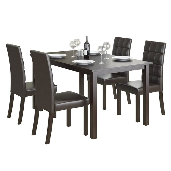 Cesar 5 Piece Dining Set by Latitude Run