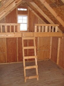 Playhouse Loft Shelving by Little Cottage Company