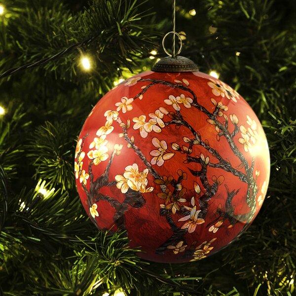 Blossom Hand Painted Glass Ornament by La Pastiche