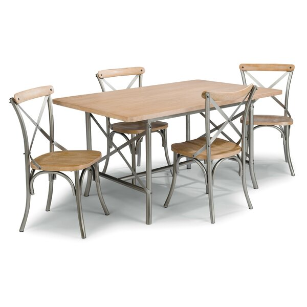 Hamann 5 Piece Dining Set by Williston Forge Williston Forge