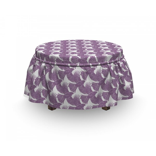 Flying Crow Bird Ottoman Slipcover (Set Of 2) By East Urban Home