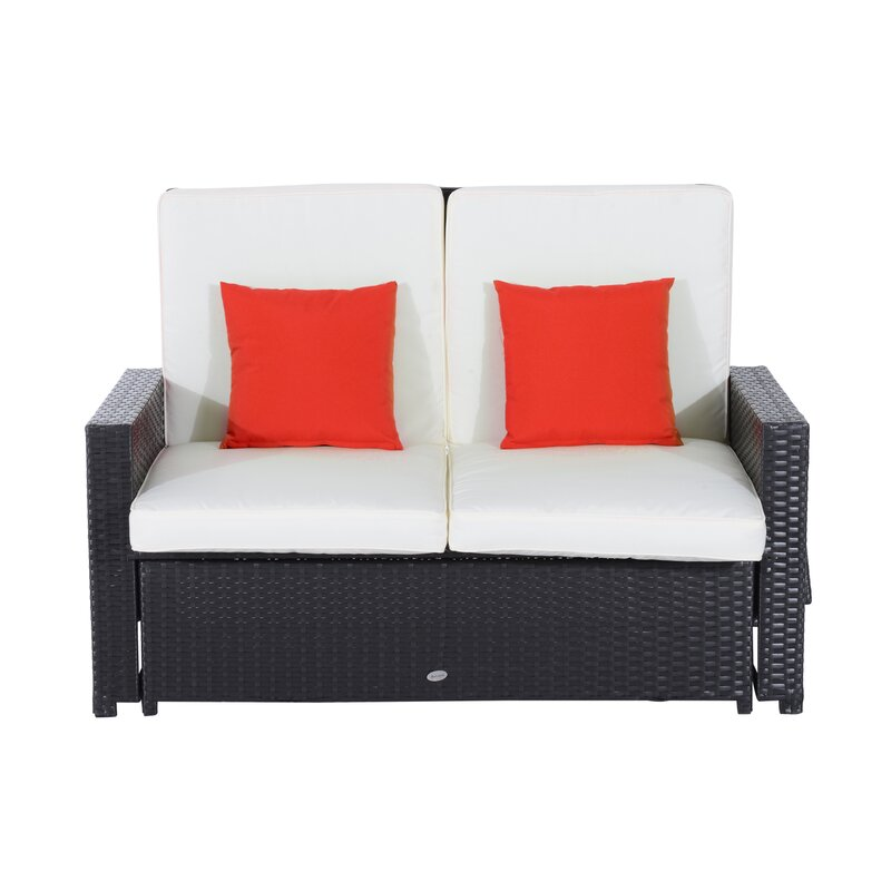outdoor dp wicker love loveseat com lounge amazon seat chairs garden patio white