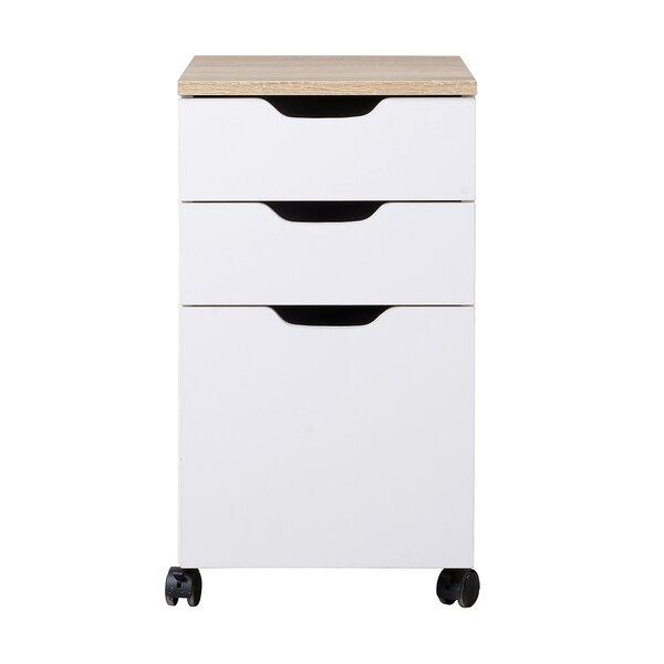 Rosborough Modern 3 Drawer Mobile Vertical Filing Cabinet by Wrought Studio