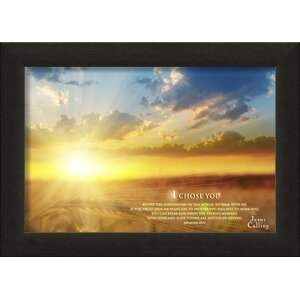 I Chose You Jesus Calling Framed Photographic Print by Carpentree