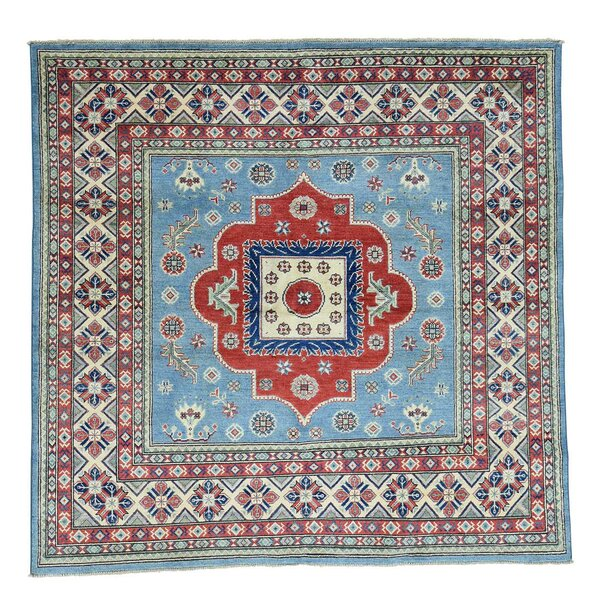 One-of-a-Kind Tillman Hand-Knotted Sky Blue Area Rug by Millwood Pines